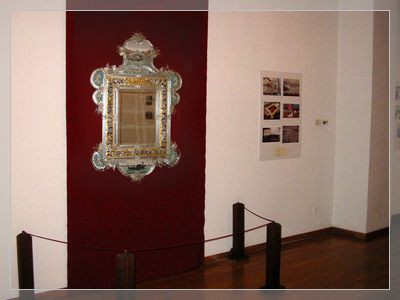 Venetian mirror with micrmosaic frame end of 19.th centaury
