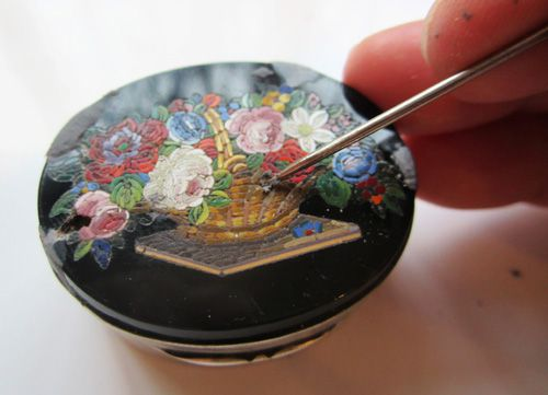 Vintage Box with Millefiori Micro Mosaic inlay