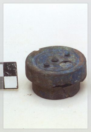 Bronze capsule from the Roman Age